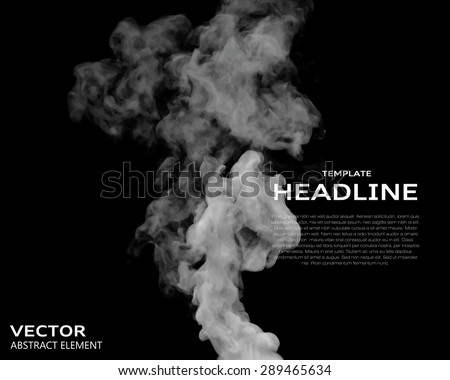 vector illustration of smoke