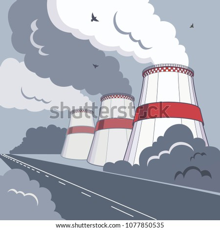 vector illustration of smoking