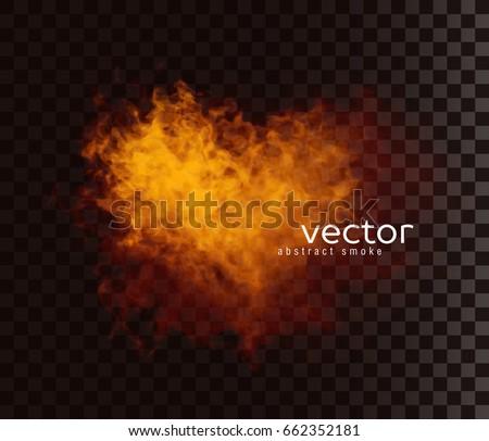 vector illustration of smoky