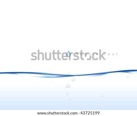 Vector illustration of smooth water surface.