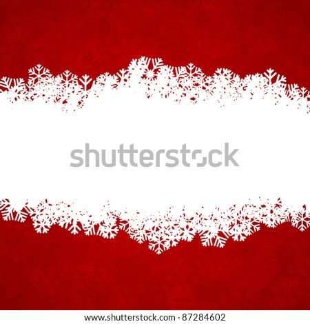 Vector illustration of snowflakes texture. Christmas background.