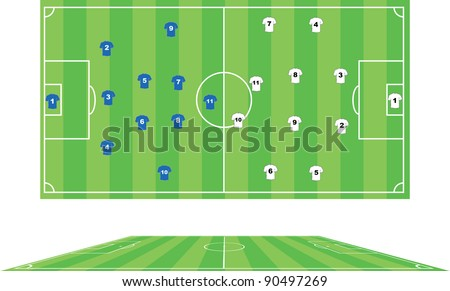 Vector illustration of soccer pitch.