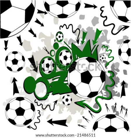 vector illustration of soccer strategy