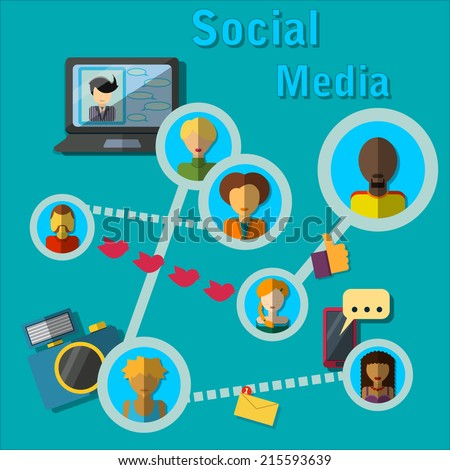 vector illustration of social