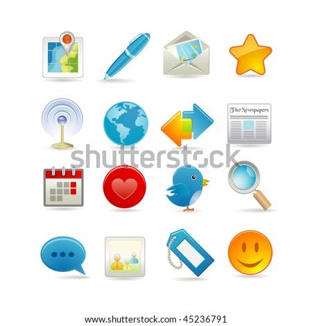 Vector illustration of social media icon set