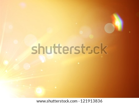 Vector illustration of soft orange abstract background