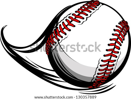 stock-vector-vector-illustration-of-softball-or-baseball-with-movement-motion-lines