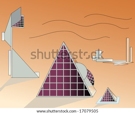 vector illustration of solar power plant