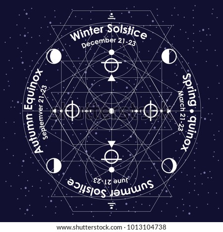 vector illustration of solstice