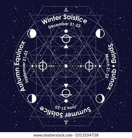 vector illustration of solstice