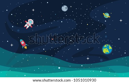 vector illustration of space