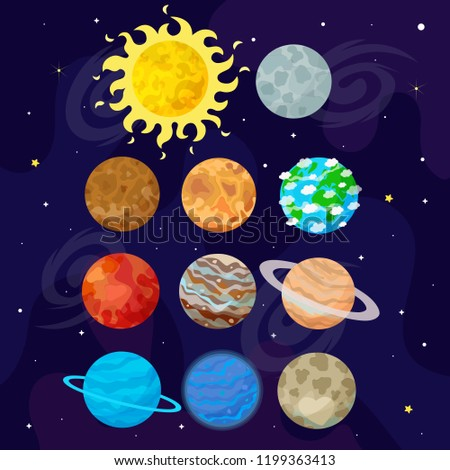 Vector illustration of space universe.