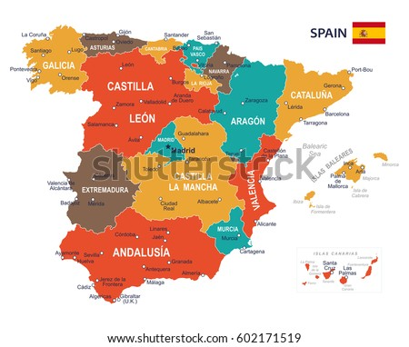 vector illustration of spain map