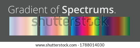 Vector illustration of spectrum color gradients palette set isolated. Rainbow color art design.