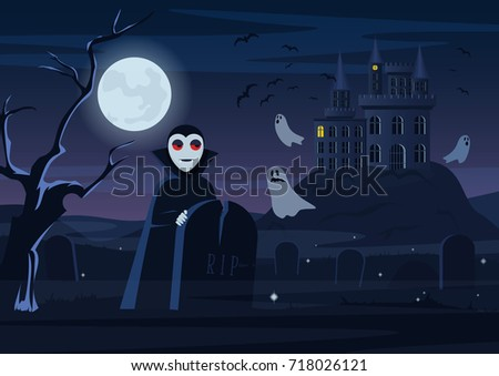 vector illustration of spooky