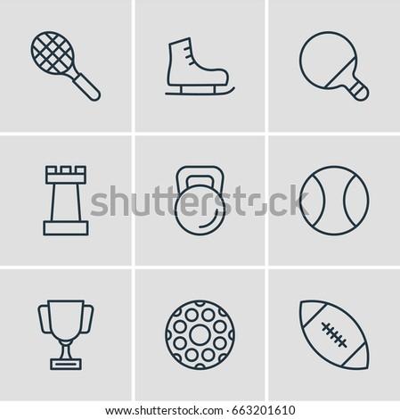 vector illustration of 9 sport