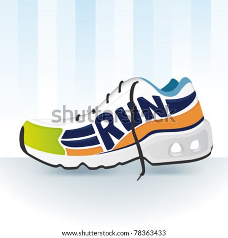 Vector illustration of Sport shoes for running