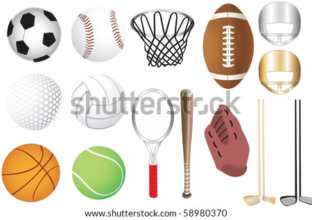 Vector Illustration of 15 sports icons isolated. Available in other versions.