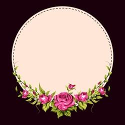 vector illustration of spring fresh flower in floral banner poster background
