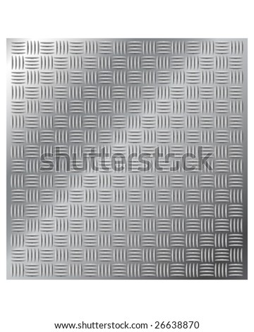 Vector illustration of stainless metal cross hatch tread background - stock vector