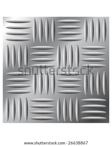 Vector illustration of stainless metal large cross hatch tread background