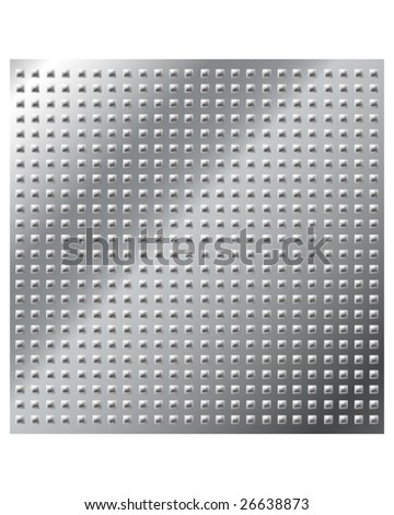 Vector illustration of stainless metal pyramid stud background