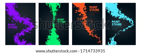 vector illustration of stains of paint on water. creative frames for text, graphic design with modern art. element for design business cards, invitations, gift cards, flyers and brochures