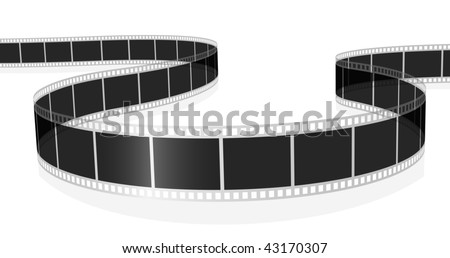 Vector illustration of standard photo or movie film isolated on white background.