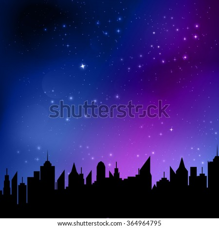 vector illustration of starry