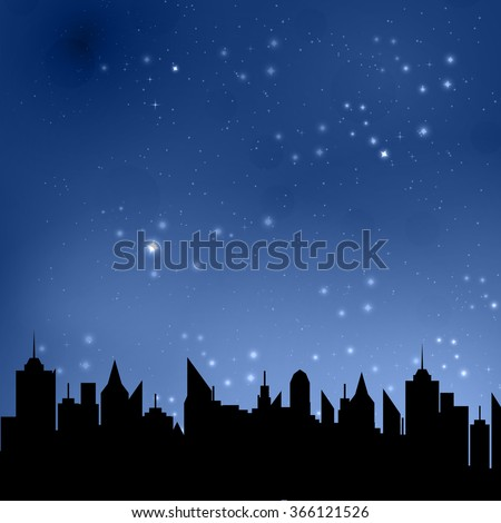 vector illustration of starry