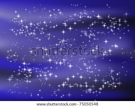 Vector illustration of starry sky