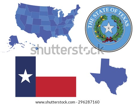 USA State Buttons Download Free Vector Art Stock Graphics Images - Usa map shape