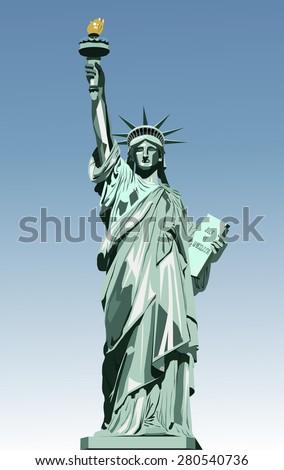 vector illustration of statue