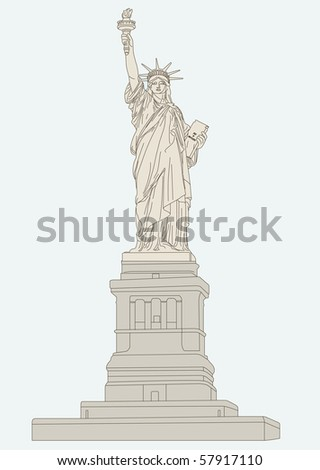 """vector illustration of """"Statue of Liberty"""""""