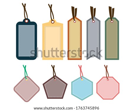 Vector illustration of sticky notes, bookmarks, Price down sale tag Сток-фото ©