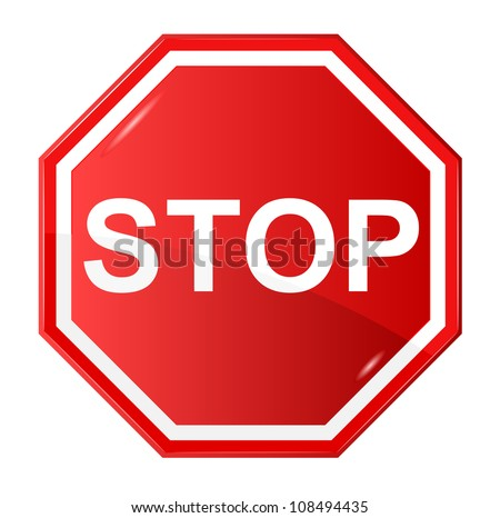 Vector illustration of Stop sign #108494435