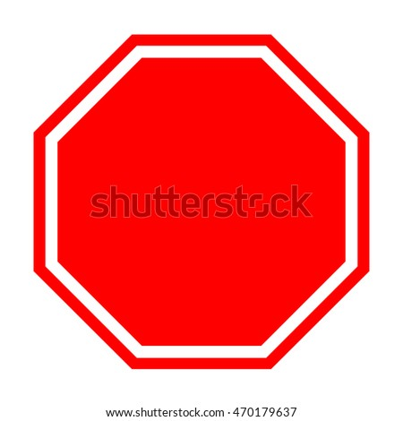 Vector illustration of Stop sign isolated on pure white #470179637