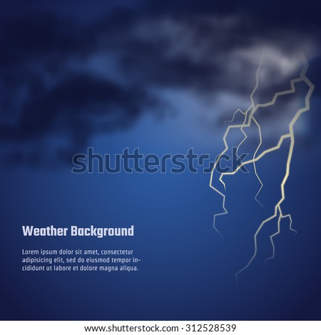 vector illustration of storm