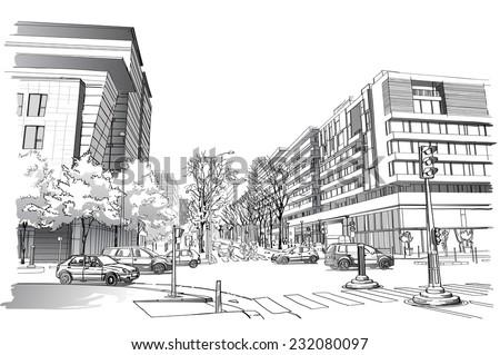 vector illustration of street