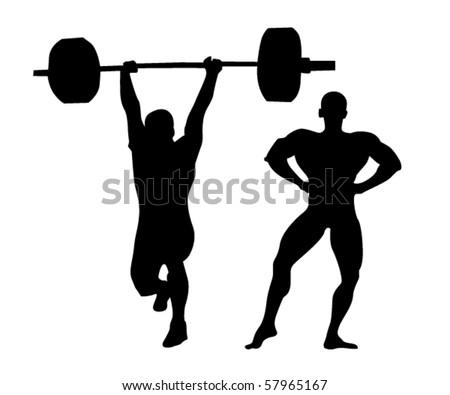 vector illustration of strong man - stock vectorStrong Man Logo