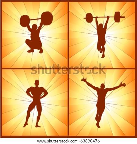 vector illustration of  strong man - stock vector