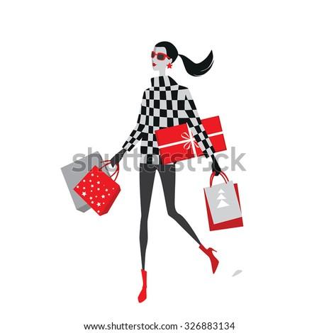 vector illustration of stylish