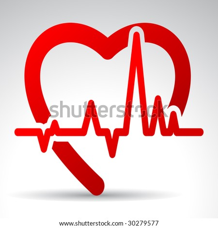 Vector illustration of stylized heart.