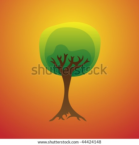 Vector Illustration of Stylized Tree
