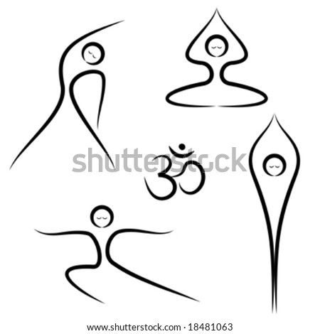 stock vector : Vector illustration of stylized yoga poses.