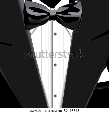 bow tie suit. of suit and ow tie
