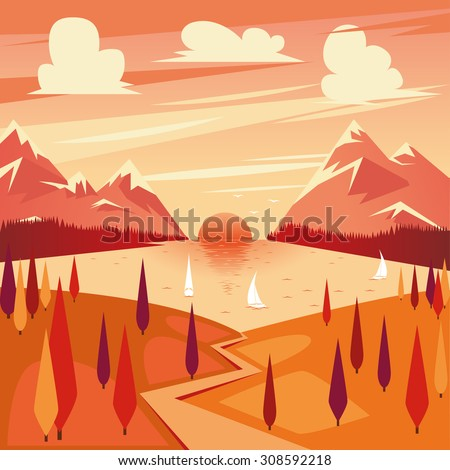 vector illustration of summer