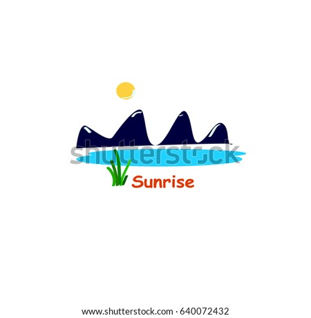 vector illustration of sunrise