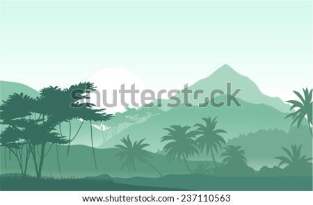 vector illustration of sunrise