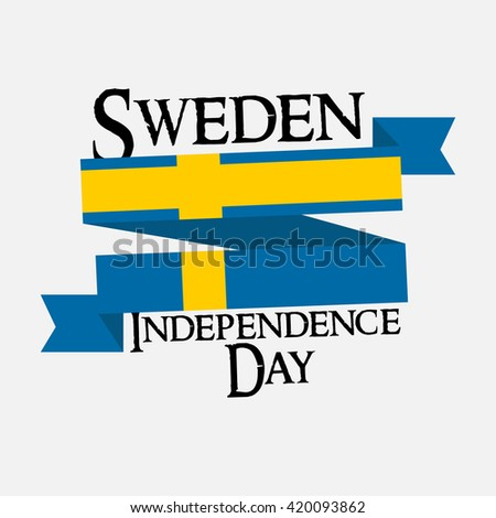 Vector illustration of sweden independence day. #420093862